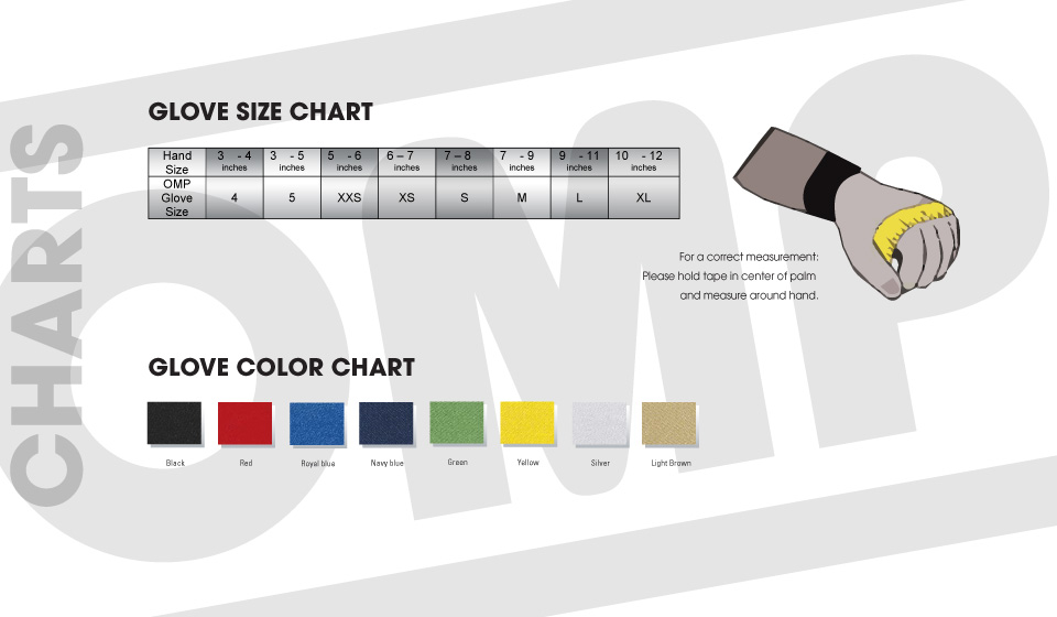 OMP Racing Suit Sizing Chart