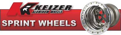 Keizer Sprint Car wheels have cold forged billet centers and are double spun to 6061T6 aircraft quality aluminum!