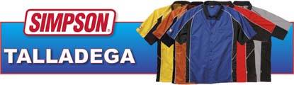 Simpson Talladega Crew Shirts are great for the track, or working in the shop or garage!