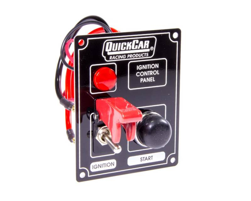 Quickcar Ignition Control Panel W  Flip Switch Ignition Cover - Warning Light
