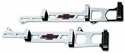 Proform Linear Spark Plug Wire Loom - Bow Tie Emblem - Chrome : 141-638