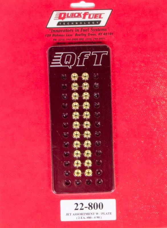 #80 to #90 Quick Fuel Technology 22-800 Jet Assortment Kit