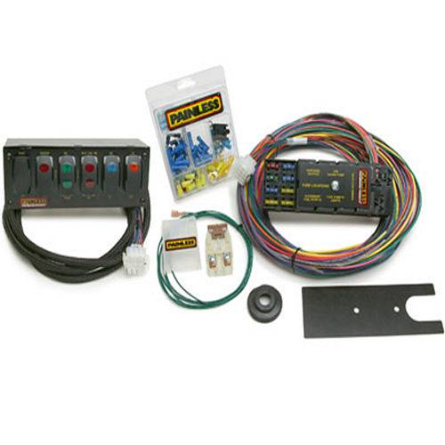 painless performance race only chassis harness w switch panels 10 circuits 50005