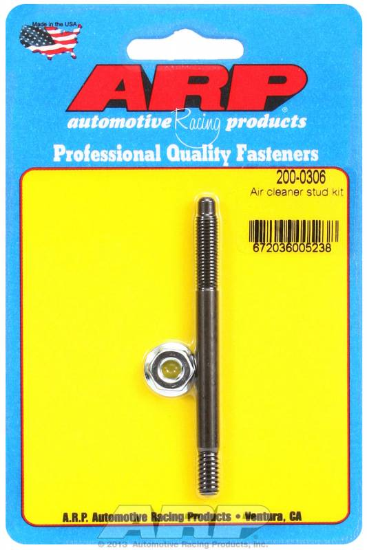 """Extra long 6/"""" overall length 1//4/"""" coarse thread air cleaner stud with wing nut"""