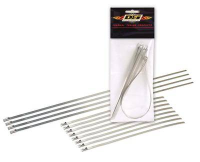 """Stainless Steel Header Exhaust Locking Tie Combo Pack 8-8/"""" and 4-14/"""""""
