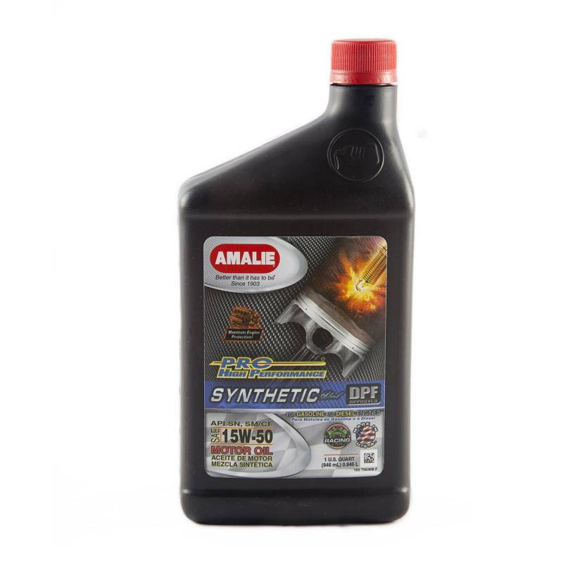 Amalie Pro High Performance Synthetic Blend Motor Oil 15w 50 1 Qt Bottle Case Of 12 160