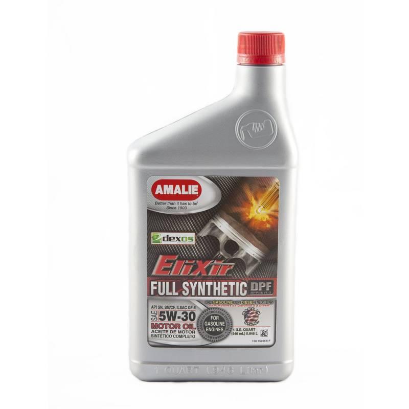 Amalie Oil 160 75766 56 Amalie Elixir Full Synthetic Motor Oil 5w 30 Oil 1 Quart Bottle