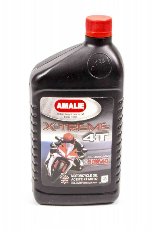 Amalie oil 72676 56 amalie x treme 4t max mc motorcycle for Motor oil for motorcycles