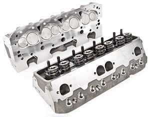 Brodix Track 1(R) Aluminum Cylinder Heads - SB Chevy : 1001001