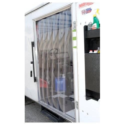 Vinyl door strips for office door