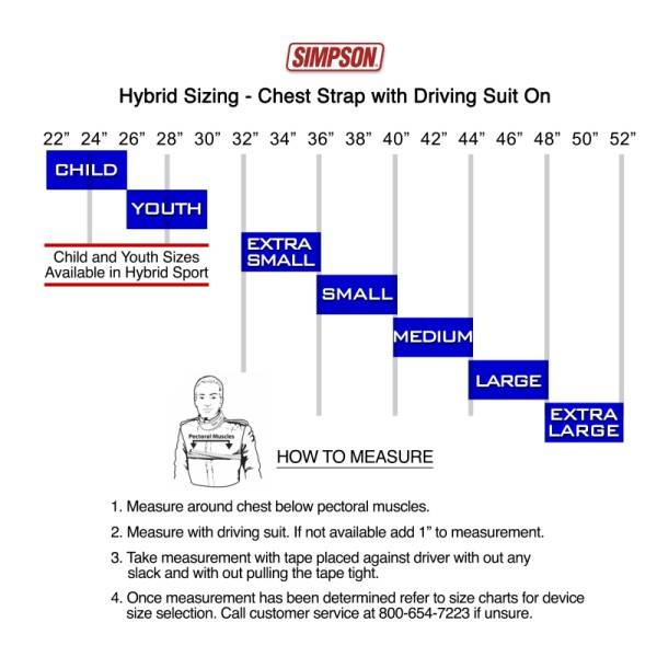 Simpson Auto Racing Gloves Sizing Chart