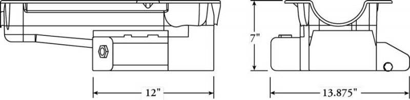 Moroso SB Chevy C-3/C-4 Corvette Oil Pan - LH Dipstick : 21812