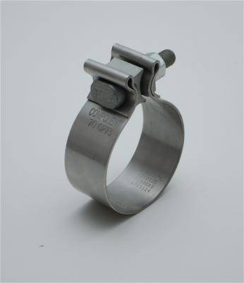 2-3//4 Stainless Steel Exhaust Clamp Vibrant Performance 1169