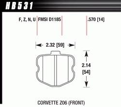 Brake Pad Sets - Street Performance - 2003 Dodge 1500 Van D898 Pads (D898)