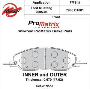Brake Pad Sets - Street Performance - 2005-11 Mustang D1081 Pads (D1081)