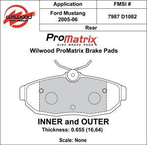 Brake Pad Sets - Street Performance - 2005-11 Mustang D1082 Pads (D1082)