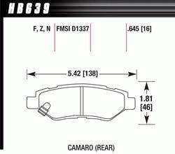 Brake Pad Sets - Street Performance - 2010-12 Camaro D1337 Pads (D1337)