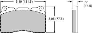 Brake Pad Sets - Street Performance - 2010-12 Camaro/G8/GXP/STS/CTS / 2007-11 Mustang GT D1001 Pads (D1001)