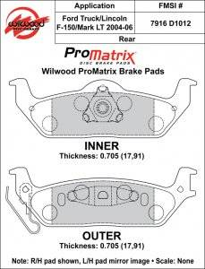 Brake Pad Sets - Truck - 2004-09 Ford Truck D1012 Pads (D1012)