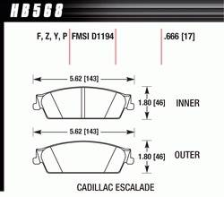 Brake Pad Sets - Truck - 2007-11 GM Truck D1194 Pads (D1194)