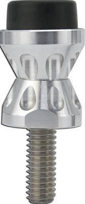 Ringbrothers 99000-5750N Billet Aluminum Natural Finish Hood Adjuster Pair