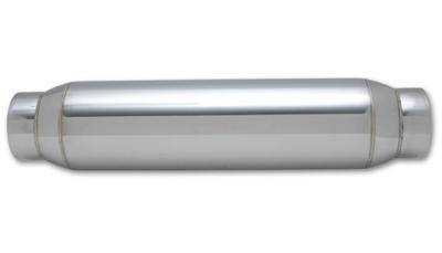 """Vibrant Performance Stainless Steel Race Muffler 3/"""" Inlet Outlet 5/"""" Long"""