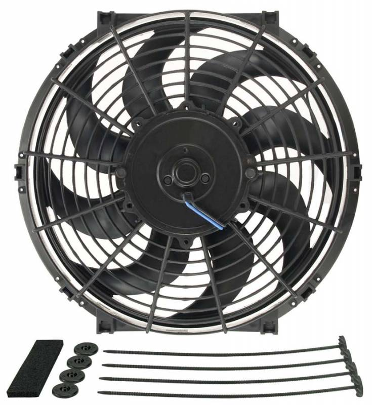 A Sketch Of A Electric Fan : Derale quot tornado electric fan cfm rpm