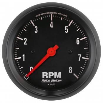 Auto Meter 2699 Z-Series Black 3-3//8 8000 RPM In-Dash Electric Tachometer
