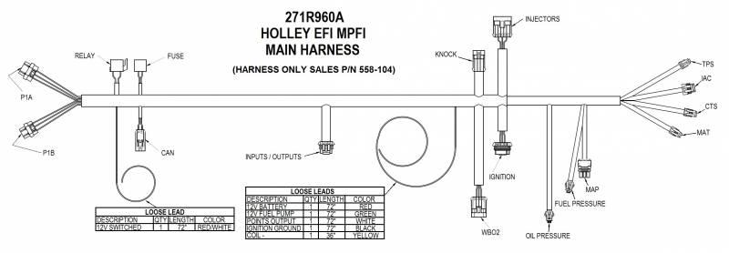 Holley Univ HP EFI Retrofit Engine Management System