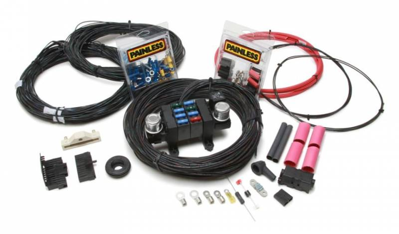 Painless Performance Products Customizable Complete Car Wiring Harness Complete 17 Circuit