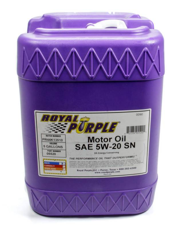 Royal Purple 5w20 Motor Oil Synthetic 5 Gal