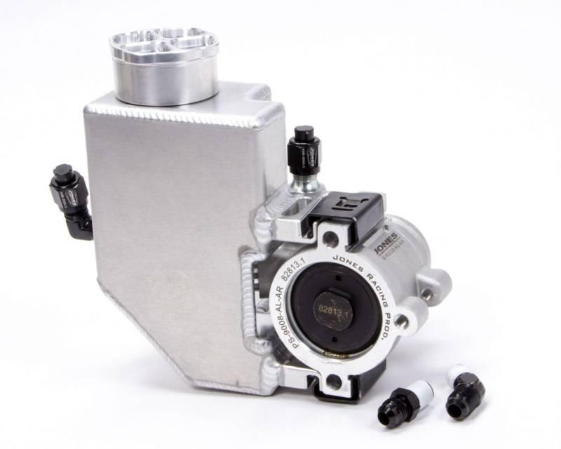 Jones Racing Products Gm Type 2 Power Steering Pump 1100 Psi Aluminum Reservoir Aluminum Natural