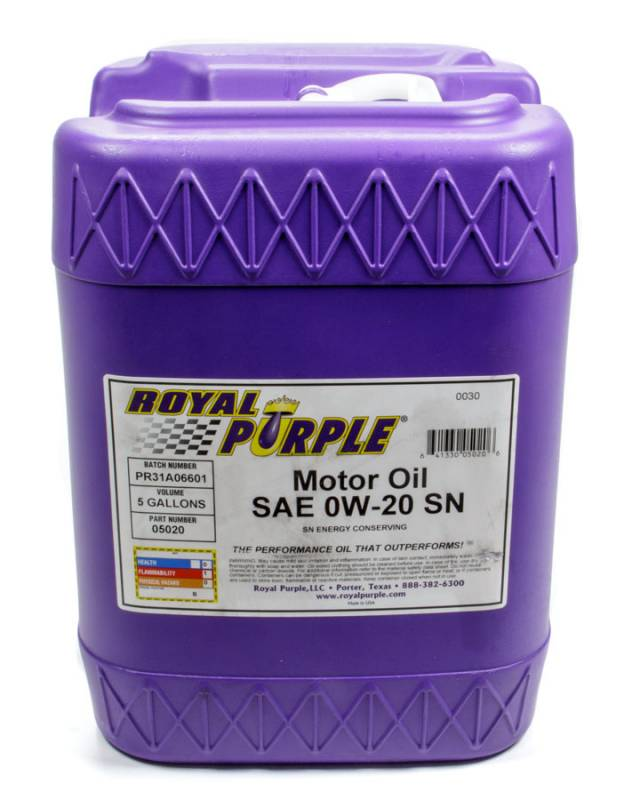 Royal Purple 0w20 Motor Oil Synthetic 5 Gal