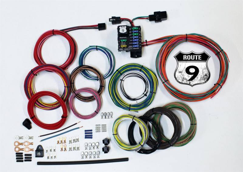 american autowire route 9 complete car wiring harness complete 9 american autowire american autowire route 9 complete car wiring harness complete 9 power outlets gm