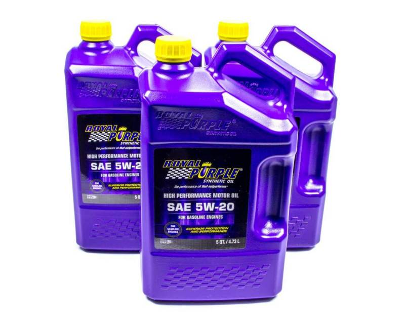 Royal Purple 5w20 Motor Oil Synthetic 5 Qt Set Of 3