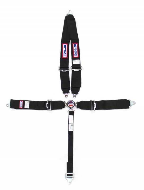rjs 5-point quick release camlock restraint system - roll bar mount shoulder harness