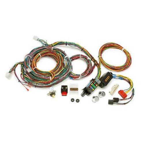 painless performance products - painless performance direct fit mustang chassis  harness (1967-1968)