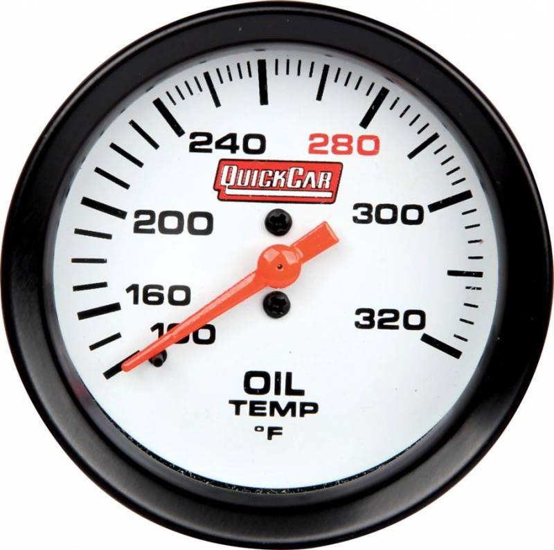 quickcar extreme oil temp gauge w built in led warning. Black Bedroom Furniture Sets. Home Design Ideas