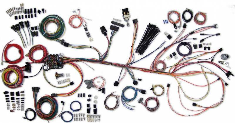 american autowire classic update series wiring harness kits 500981 rh pitstopusa com 65 chevelle wiring harness 69 chevelle wiring harness colors