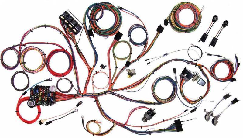 american autowire classic update series wiring harness kits 510125 american autowire american autowire 64 66 mustang wiring harness system