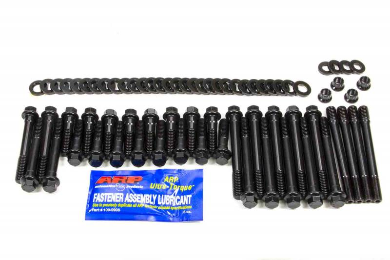 ARP 134-3604 High Performance Series Black Oxide 12-Point Cylinder Head Bolt Kit for Small Block Chevy with 23 Degree Pro Action Head