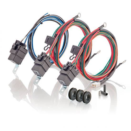 C r racing relay fan wiring harness v amp