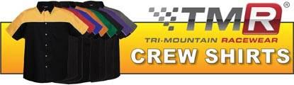TMR pit crew shirts give your team that professional appearance at a great price!
