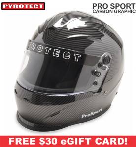 Pyrotect Helmets - Pyrotect ProSport Carbon Graphic Helmet - $349