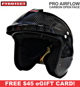 Pyrotect Helmets - Pyrotect Pro Airflow Carbon Open Face Helmet - $449