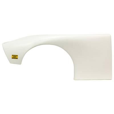 Five Star ABC Plastic Fender - White - Left : 660-23PLW
