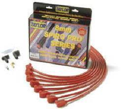 Taylor Cable 78353 Hot Orange 8mm Universal Fit Spiro Pro Spark Plug Wire Set