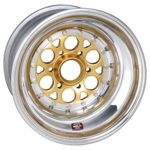Weld Wheels - Weld Racing Magnum Sprint 6 Pin Gold Anodized / Polished Wheels