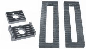 Chassis & Suspension - Serrated Steel Plates & Blocks