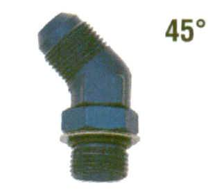 AN O-Ring Port Fittings and Adapters - 45° Male AN O-Ring Port to Male Flare Adapters